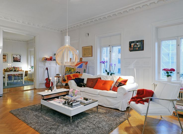 Charming and chic Swedish interior with our Octo 4240 as a centre piece!