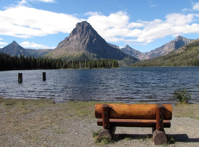 Hope to do this next time on a visit to Glacier National Park: Peace and tranquility at Lower Two Medicine Lake in Glacier National Park, Montana, USA