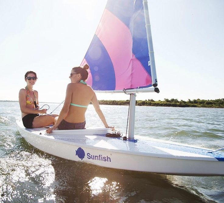 Sunfish sailboat rentals available for delivery by Shoreline Sailboats