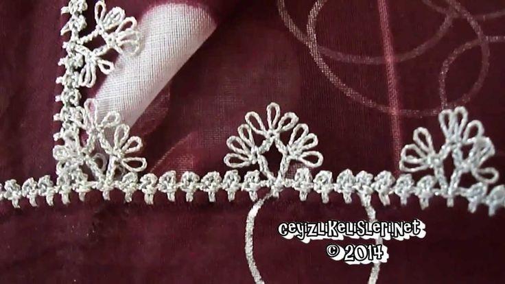 Simli İpten Şiş Oyası Nasıl Yapılır? : Burgundy Crochet 153