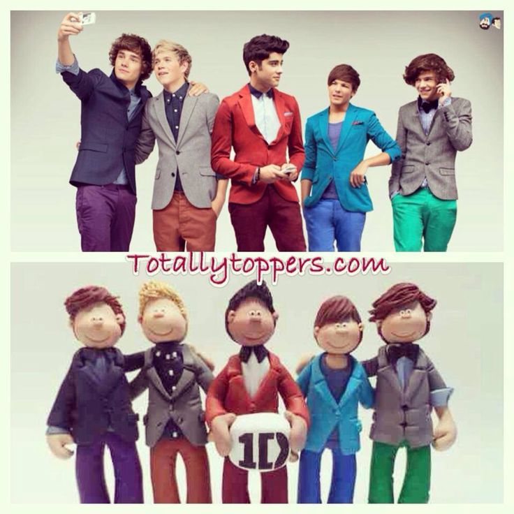 A one direction 1D cake topper I made #totallytoppers ...