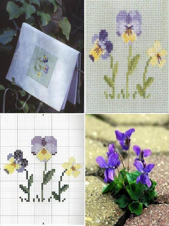 Picture of Violet, pattern for pansy