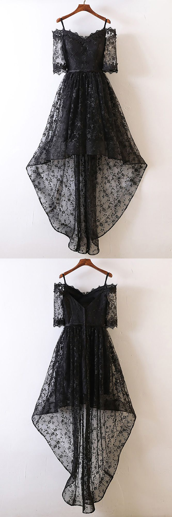 Only $99, Prom Dresses Unique Black High Low Prom Dress Lace With Off Shoulder For Teens #MYX18089 at #GemGrace. View more special Prom Dresses,Homecoming Dresses now? GemGrace is a solution for those who want to buy delicate gowns with affordable prices, a solution for those who have unique ideas about their gowns. Click to shop now!