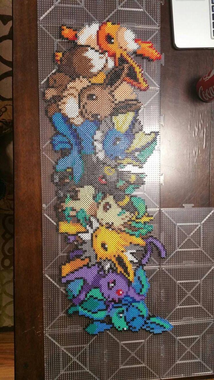Eevee evolution -Pokemon perler beads by CustomPerlerBeadArt