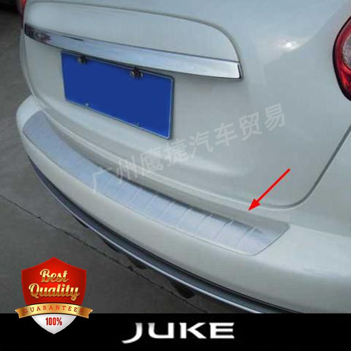 High Quality Stainless Steel Rear bumper foot plate fit for NISSAN JUKE 2010-2015 Auto back sill cover