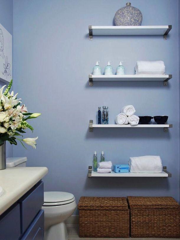 Организация хранения в ванной комнате