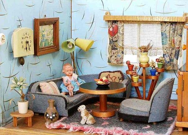 Wohnzimmer vintage ~ Best vintage dollhouses accessories images