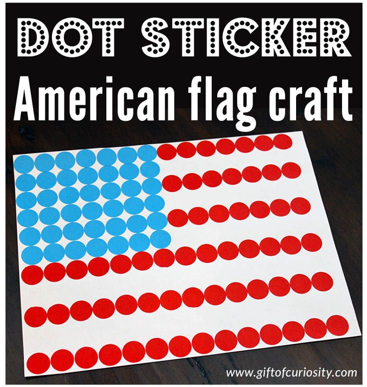 This dot sticker American flag craft is not only super simple to do, it doubles as a great fine motor activity for 4th of July!