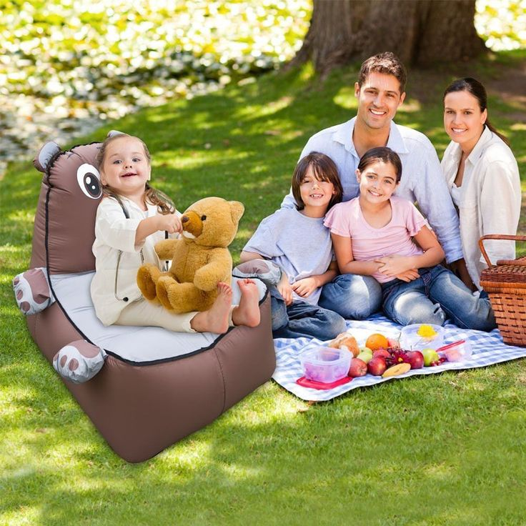 Inflatable Water Slides While Pregnant: Kids Inflatable Lounge Outdoor Toddler Sofa Chair Set