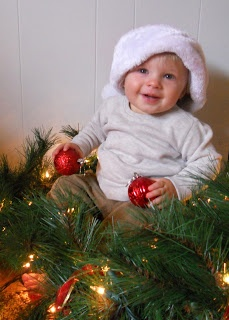 Toddler christmas pic