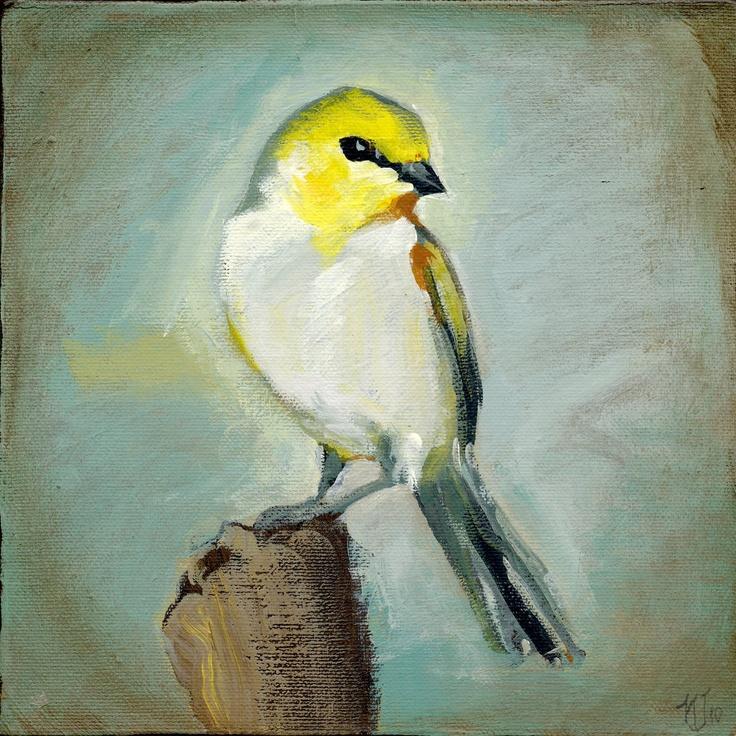 little  yellow birdBird Paintings, Birds Tattoo, Birds Painting, Birds Galore, Painting Well, Backyards Birds, Painting Ideas, Art Painting, Birds Inspiration