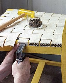 How To Weave a Webbed Seat on an old chair