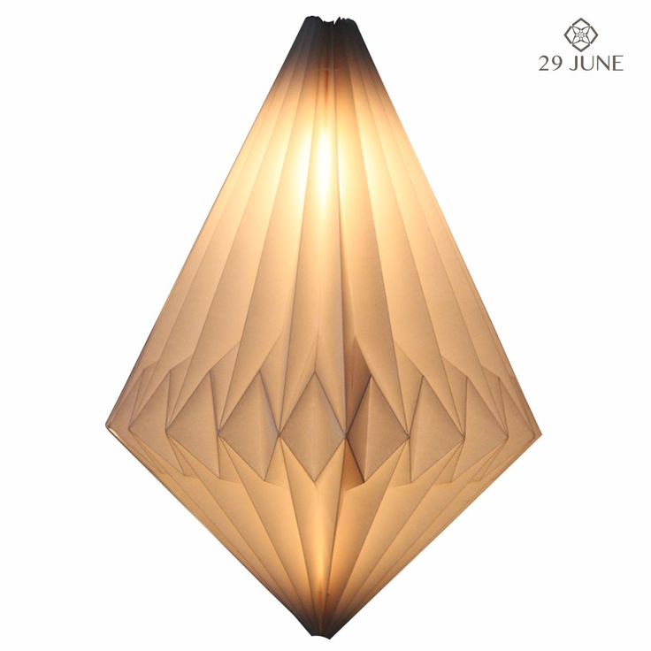 25 best paper lamp shades party lanterns images on pinterest buy paper lumiere diamond online and save skillfully designed and hand crafted this paper lamp shade is origami folded to create a beautiful piece that mozeypictures Image collections