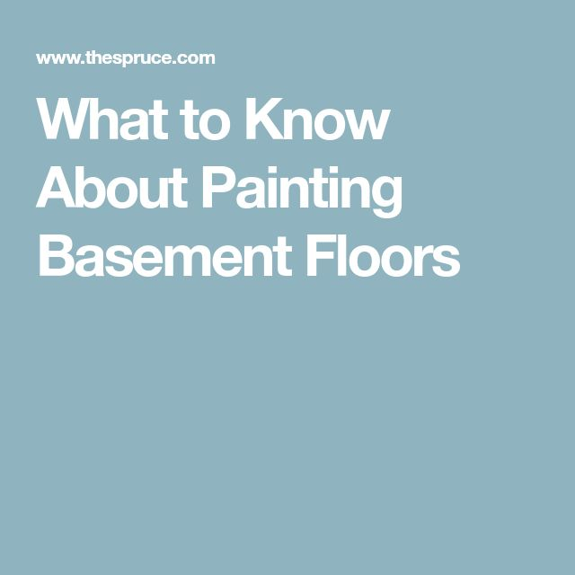 What to Know About Painting Basement Floors