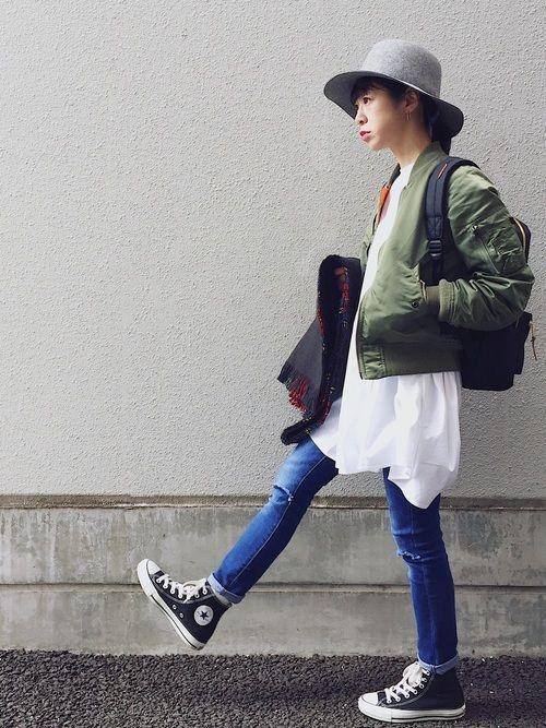 SEVENDAYS=SUNDAYのその他アウター「W ALPHA MA-1 ジャケット」を使ったMitsukoのコーディネートです。WEARはモデル・俳優・ショップスタッフなどの着こなしをチェックできるファッションコーディネートサイトです。