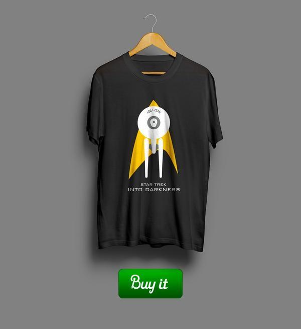 Into darkness   Футболка для настоящих защитников, верных своему делу и своим друзьям. Носить два раза в неделю для прокачки ловкости и морального духа. #warriors #tshirt #Star #Trak #Звездный #путь #fantasy #футболки #Enterprise #darkness