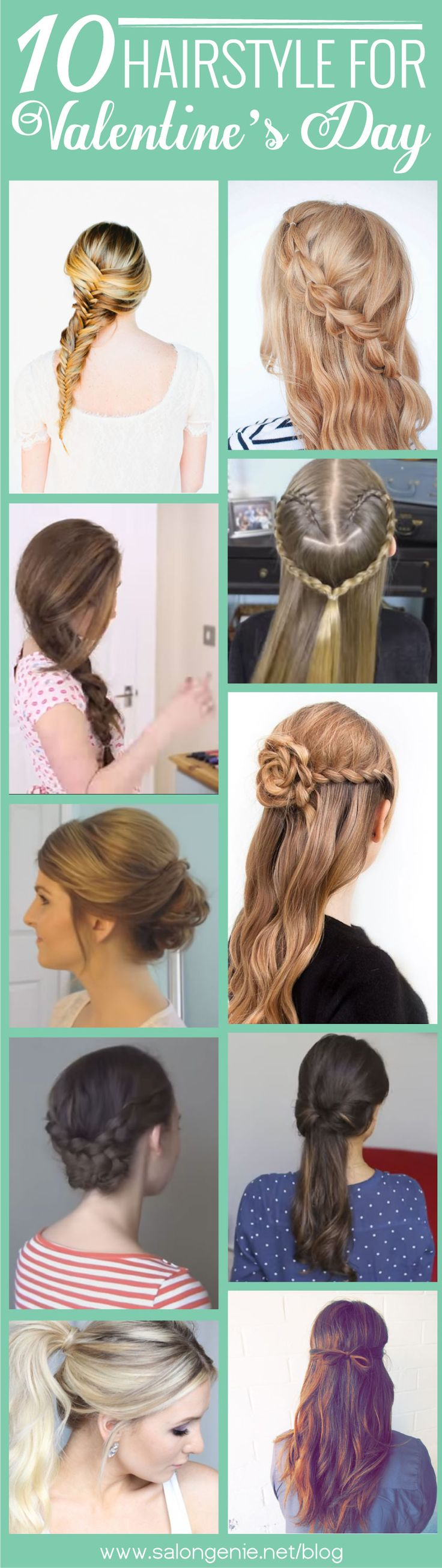 Top 10 Hairstyles For Valentine's Day!