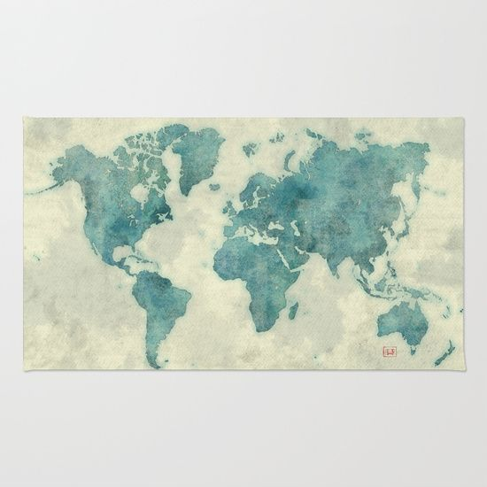 Buy Area & Throw Rugs with design featuring World Map Blue Vintage by City Map Art and adorn your home with both style and comfort. Available in three sizes (2' x 3', 3' x 5', 4' x 6').