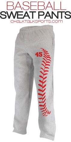 Needing that perfect pair of baseball sweats? We've got you covered! Our super comfy baseball sweatpants are perfect for after a game, lounging around, or staying warm during a cold off season!