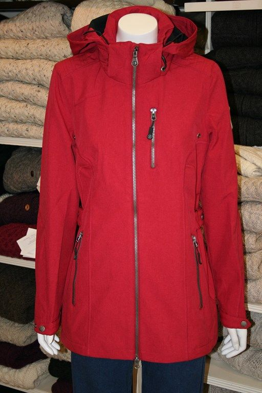 Leisurewear Jacket from Key West.  Detachable Hood.  Zip front fastener, and handy zipped pockets. Adjustable at waist and cuffs. Water repellant and wind resistant.