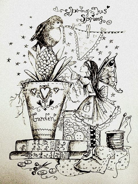 garden pixie coloring pages - photo #11