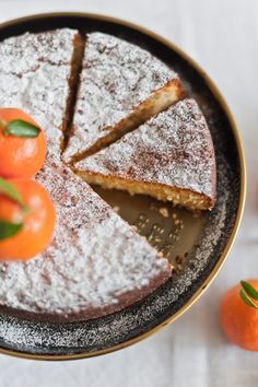 white chocolate citrus cake, made with ground almonds and scented ...