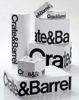 Crate-and-Barrel -- sometimes seeing things in black and white isn't all bad, especially when we're talking gift bags and boxes!
