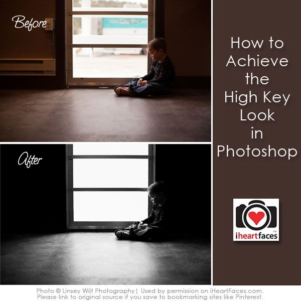 How to Achieve a High Key Look in Photoshop - via iHeartFaces.com