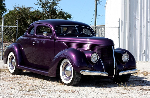 1938 Ford Custom Quot Barris Quot Coupe Purple Rides Fancy