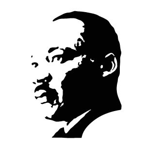 Martin luther king jr in 2019 | King art, Silhouette art ...