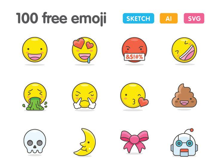 100 Iconos Kawaii emoji
