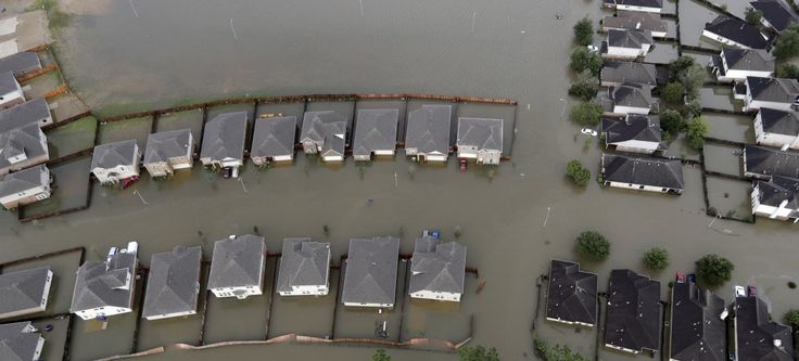 Spring, Texas, north of downtown Houston, also faced severe flooding.