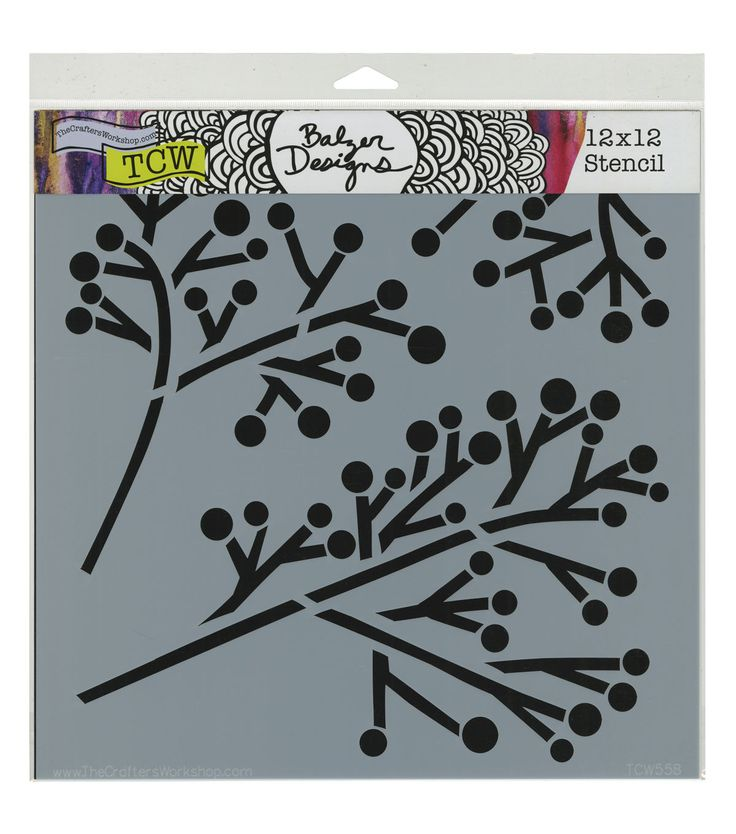 Crafter's Workshop 12''x12'' Template - Twig & Berries