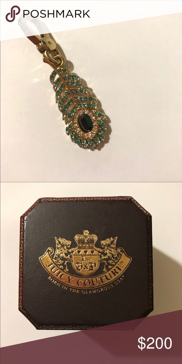 juicy couture charm with box rare peacock feather juicy couture charm - accepting reasonable offers Juicy Couture Jewelry Bracelets