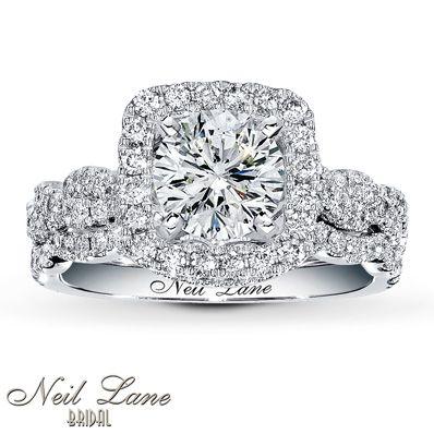Jared - Neil Lane Bridal Setting 3/4 ct tw Diamonds 14K White Gold - I want!
