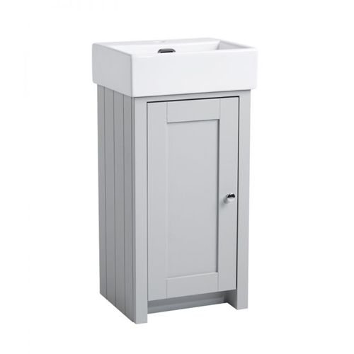 Landsdown is a solid wood compact vanity unit with the option off adding a ceramic basin,this 400mm unit comes complete with soft close doors and stainless steel handles and provides plenty of storage space for a small bathroom or Ensuite.