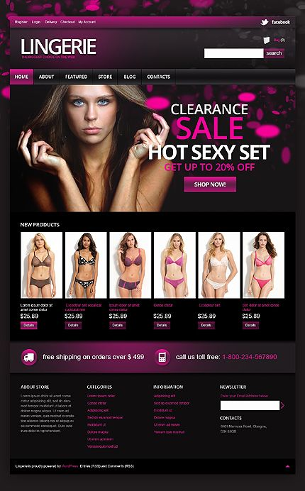 Lingerie Store Jigoshop Themes by Hermes
