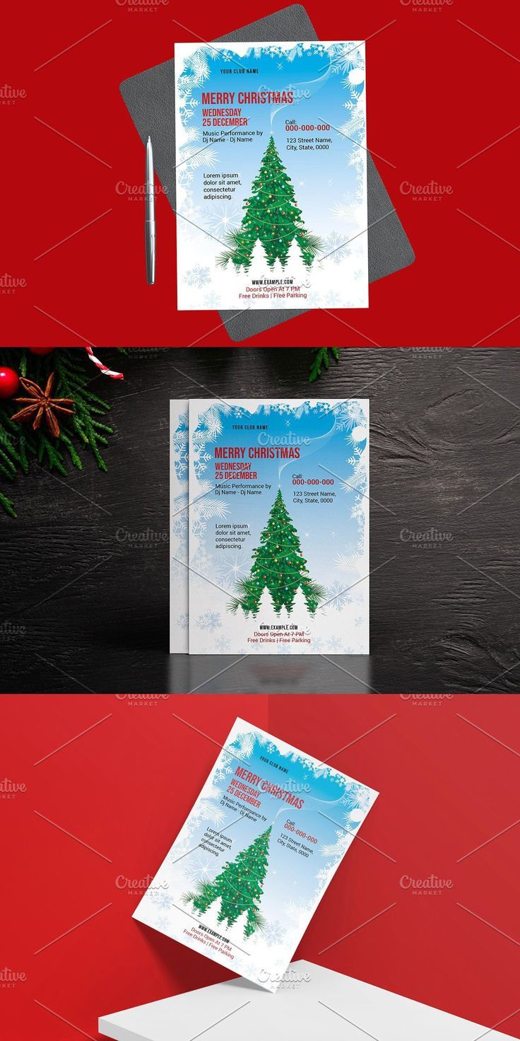 Christmas Flyer TemplateV02 Christmas flyer, Christmas