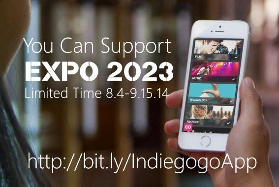 Our Indiegogo Crowdfunding Campaign goes live on 8.4 and goes through 9.15.14... lucky us that Indiegogo just launched their iOS app! #expo2023 #Indiegogo #image