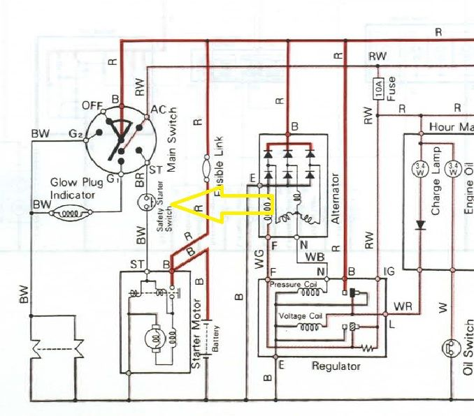 Wiring Diagram Kubota M7040 Alternator Diagram Kubota Tractors