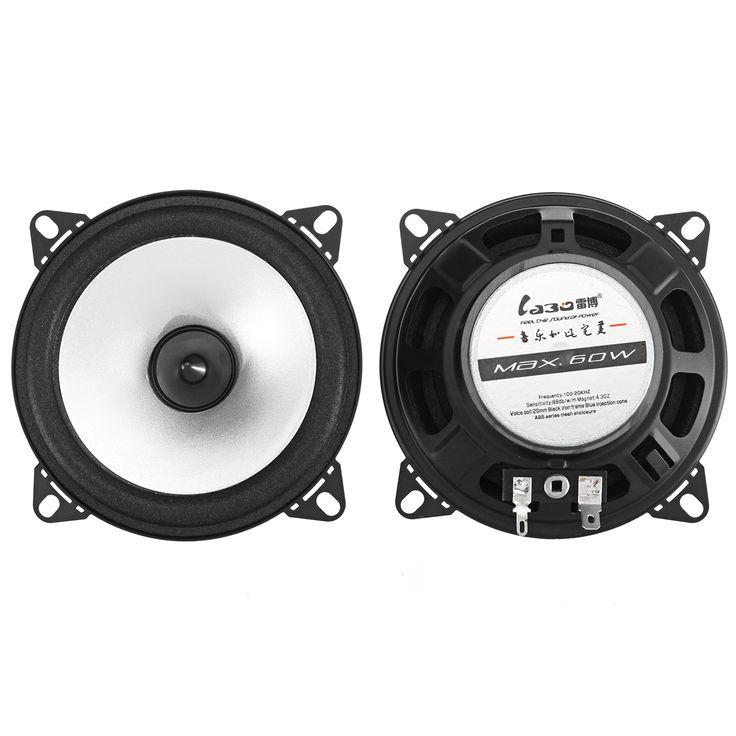 4 Inch 60W 88dB Coche Altavoces coaxiales de audio Sistemas Altavoz estéreo Subwoofer