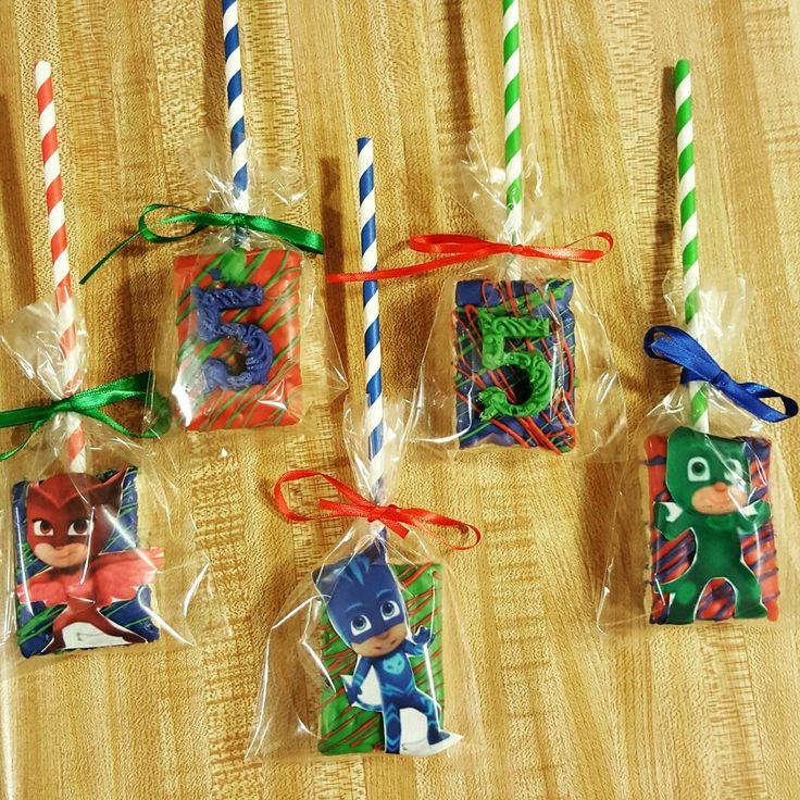 PJ mask rice krispie treats