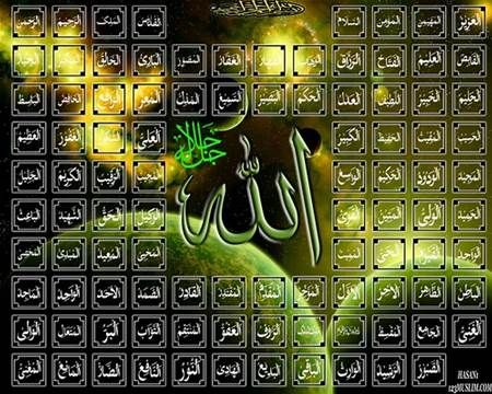 Image result for names of allah
