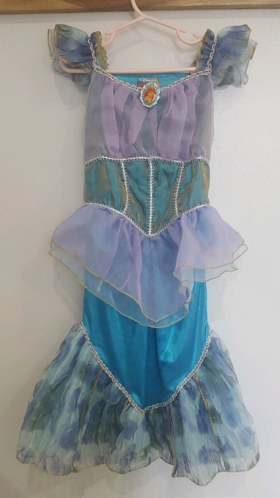 Excellent pre-warn condition Ariel Disney Store costume size 5-6 only worn once. No rips tears or stains observed. Comes from a pet free and smoke-free home. | eBay!