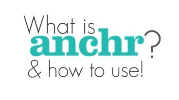 Anchr is the visual way to ask questions online! Pretty neat new social media!