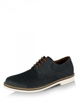 AKA Punched Derby Nubuck Shoes Designed By PATRICK COX For KOOVS