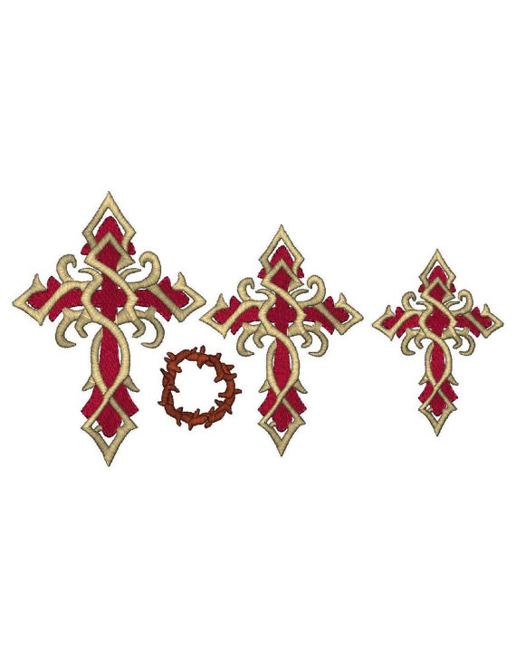 Christian cross with bonus design jesus crown of thorns