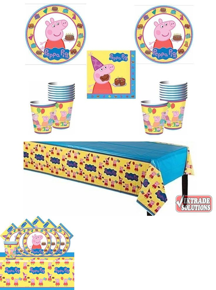 Complete Party Sets and Kits 26394: Peppa Pig Party Supply Pack 16 Guests Birthday Childrens Plates Napkins Cups Kit -> BUY IT NOW ONLY: $34.05 on eBay!