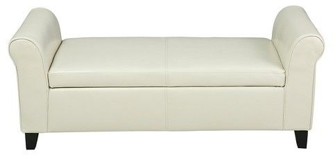 Christopher Knight Home Torino Faux Leather Armed Storage Ottoman Bench