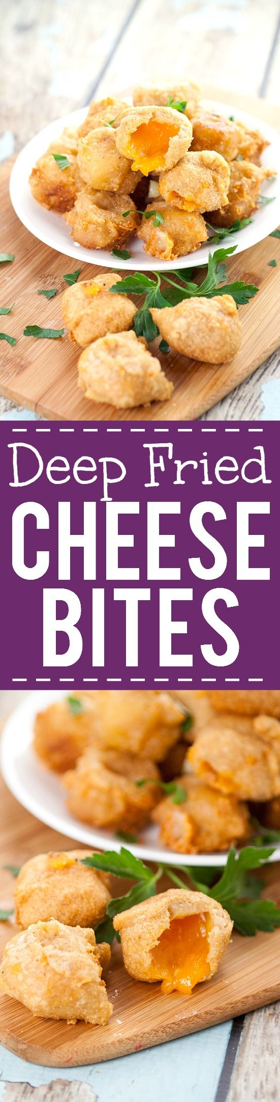 Deep Fried Cheese Bites recipe - Crispy, cheesy Deep Fried Cheese Bites in a…